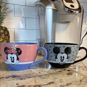 Authentic Disney Mickey and Minnie mugs